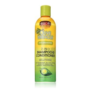 African Pride Olive Miracle 2-in-1 Shampoo & Conditioner