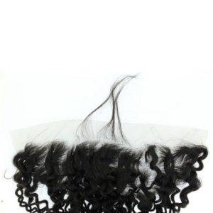 Closure Lace frontal 13x4 péruvienne ou malaisienne Jerry Curl (bouclée)
