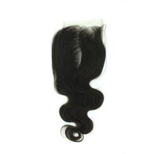 Closure Lace frontal 4x4 péruvienne ou malaisienne Body Wave (ondulée) Noire
