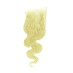 Closure Lace frontal 4x4 péruvienne ou malaisienne Body Wave (ondulée) Blonde