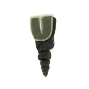 Closure Lace frontal 4x4 péruvienne ou malaisienne Loose Wave (ondulée) Noire