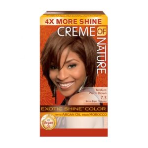 Creme of Nature Exotic Shine Color Medium Warm Brown 7.3