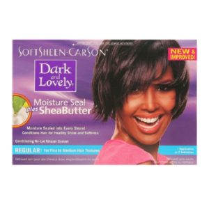 Dark and Lovely Moisture Seal Plus Shea Butter No Lye Relaxer Kit Regular