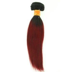 Tissage ou mèche péruvienne ou malaisienne Straight (raide) Tie and Dye Noir Bordeaux