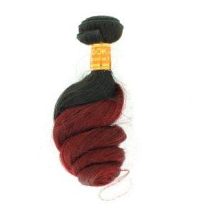 Tissage ou mèche péruvienne ou malaisienne Loose Wave (ondulée) Tie and Dye Noir Bordeaux