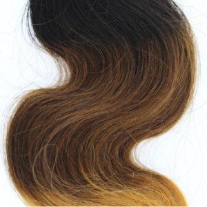 Tissage ou mèche péruvienne ou malaisienne Body Wave (ondulée) Tie and Dye Noir, Châtain clair, Jaune