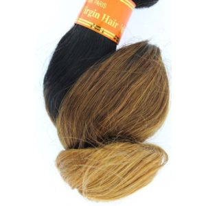 Tissage ou mèche péruvienne ou malaisienne Loose Wave (ondulée) Tie and Dye Noir, Châtain clair, Jaune