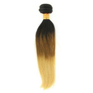 Tissage ou mèche péruvienne ou malaisienne Straight (raide) Tie and Dye Noir, Châtain clair, Jaune